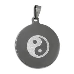 Edelstahlanhänger - Yin und Yang Amulett