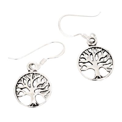 Silberohrringe Lebensbaum