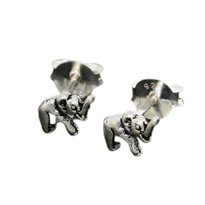Silberohrstecker - Elefant